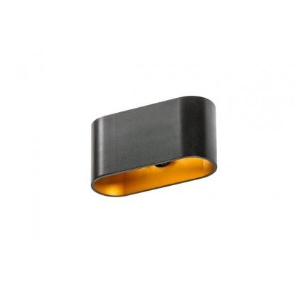 VEGA Black/Gold - Azzardo - kinkiet - GM1121 BK/GO - tanio - promocja - sklep