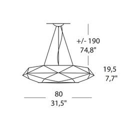 Diamond SO 80 - Morosini - lampa wisząca
