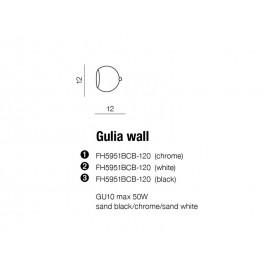 GULIA Chrome - Azzardo - plafon/lampa sufitowa