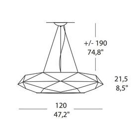 Diamond SO 120 - Morosini - lampa wisząca
