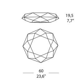 Diamond PP 60 - Morosini - kinkiet/plafon