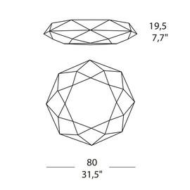Diamond PP 80 - Morosini - kinkiet/plafon