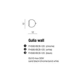 GULIA Black - Azzardo - plafon/lampa sufitowa