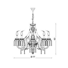 Alicante 8L - Voltolina - lampa wisząca
