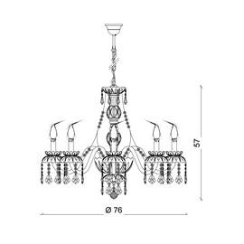 Barcelona 8L - Voltolina - lampa wisząca
