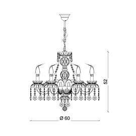 Barcelona 6L - Voltolina - lampa wisząca