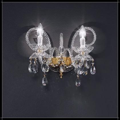Granada Parete 2L - Voltolina - kinkiet klasyczny kryształowy - Granada Parete 2L - tanio - promocja - sklep
