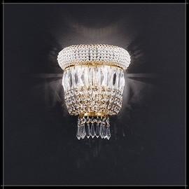 Osaka Parete 2L - Voltolina - kinkiet klasyczny kryształowy