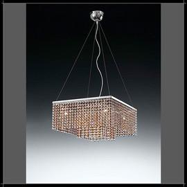 Rainbow Quadrata 6L - Voltolina - lampa wisząca kryształowa