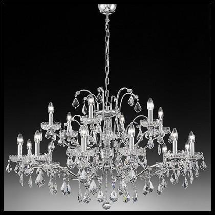 Salisburgo 12+6L - Voltolina - lampa wisząca kryształowa - Salisburgo 12+6L - tanio - promocja - sklep