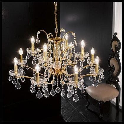 Salisburgo 8+4L - Voltolina - lampa wisząca kryształowa - Salisburgo 8+4L - tanio - promocja - sklep