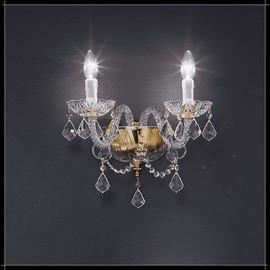 Serenade Parete 2L - Voltolina - kinkiet klasyczny kryształowy