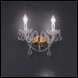 Toledo Parete 2L - Voltolina - kinkiet klasyczny kryształowy