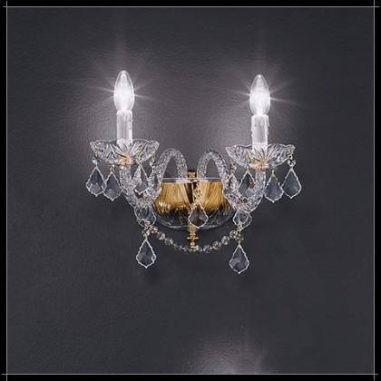 Toledo Parete 2L - Voltolina - kinkiet klasyczny kryształowy - Toledo Parete 2L - tanio - promocja - sklep