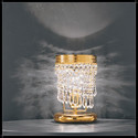 Twister Tavolo 1L - Voltolina - lampa biurkowa kryształowa