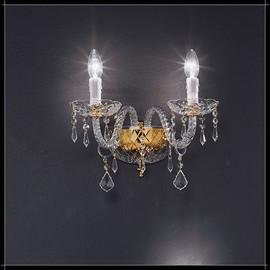 Valencia Parete 2L - Voltolina - kinkiet klasyczny kryształowy