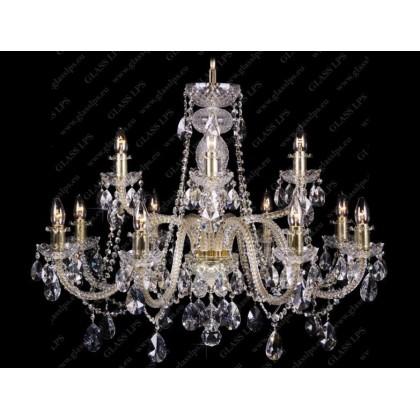 L11 009/12/1-A, F 2 floor, GOLD, lip. - Glass LPS - lampa wisząca kryształowa - L11 009/12/1-A, F 2 floor, GOLD, lip. - tan...