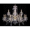 L11 009/12/1-A, F 2 floor, GOLD, lip. - Glass LPS - lampa wisząca kryształowa
