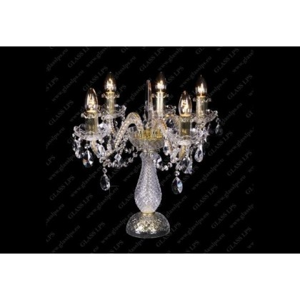 S31 009/05/1-A, GOLD, lip. - Glass LPS - lampa biurkowa