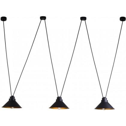 Perm Black-Gold Iii 9146 - Nowodvorski - lampa wisząca nowoczesna - 9146 - tanio - promocja - sklep