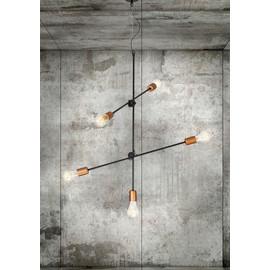 Sticks Black-Copper V 6270 - Nowodvorski - lampa wisząca nowoczesna