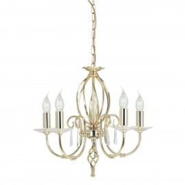 Aegean Polished Brass - Elstead Lighting - lampa wisząca klasyczna