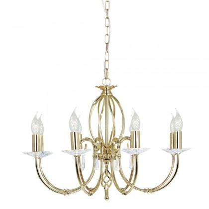 Aegean Polished Brass - Elstead Lighting - lampa wisząca klasyczna - AG8 POL BRASS - tanio - promocja - sklep