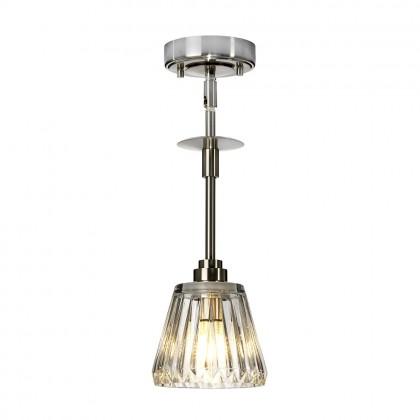 Agatha Led Brushed Nickel - Elstead Lighting - plafon łazienkowy - BATH/AGATHA1P BN - tanio - promocja - sklep