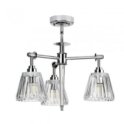 Agatha Led Polished Chrome - Elstead Lighting - plafon łazienkowy - BATH/AGATHA3P PC - tanio - promocja - sklep