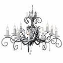 Amarilli Black And Silver - Elstead Lighting - lampa wisząca klasyczna