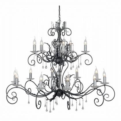 Amarilli Black And Silver - Elstead Lighting - lampa wisząca klasyczna - AML15 BLK/SILVER - tanio - promocja - sklep