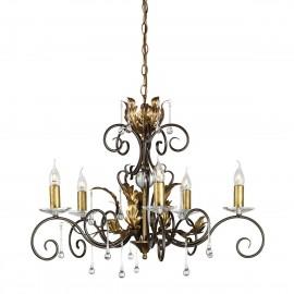 Amarilli Bronze And Gold - Elstead Lighting - lampa wisząca klasyczna