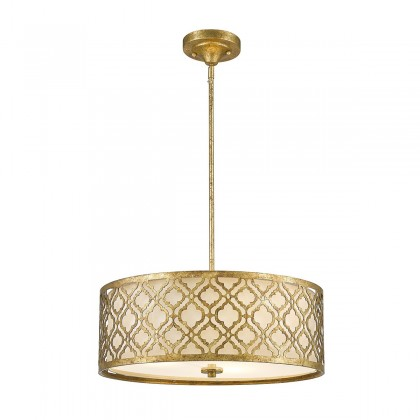 Arabella Distressed Gold - Elstead Lighting - lampa wisząca klasyczna - GN/ARABELLA/P/L - tanio - promocja - sklep