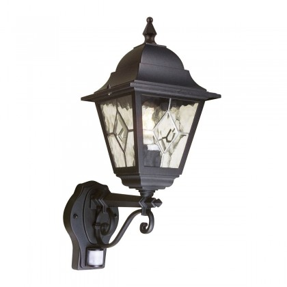 Norfolk Black - Elstead Lighting - kinkiet ogrodowy - NR1 PIR BLACK - tanio - promocja - sklep