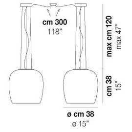 Implode SP 38 D2 - Vistosi - lampa wisząca