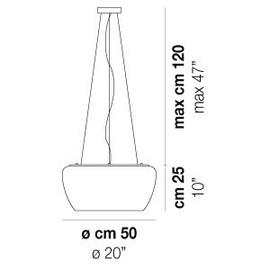 Implode SP 50 - Vistosi - lampa wisząca
