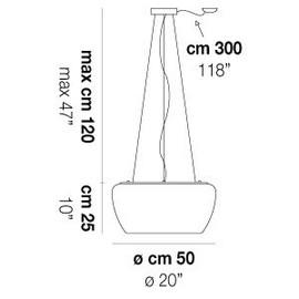 Implode SP 50 D1 - Vistosi - lampa wisząca