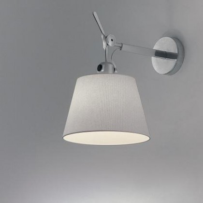 Tolomeo Ø18 aluminium, szary - Artemide - lampa ścienna - 1183010A + 0781040A - tanio - promocja - sklep