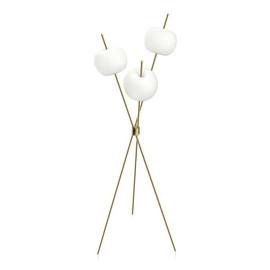 Kushi Floor H140 biały, złoty mosiądz - Kundalini - lampa podłogowa