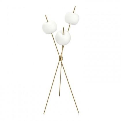Kushi Floor H140 biały, złoty mosiądz - Kundalini - lampa podłogowa - K2281059O - tanio - promocja - sklep