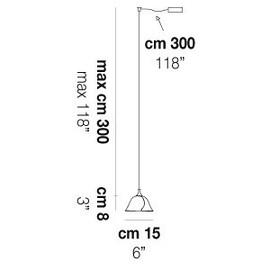 Ninfea SP P D1 - Vistosi - lampa wisząca
