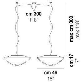 Balance SP M D2 - Vistosi - lampa wisząca
