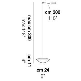 Balance SP 24 D1 - Vistosi - lampa wisząca
