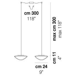 Balance SP 24 D2 - Vistosi - lampa wisząca