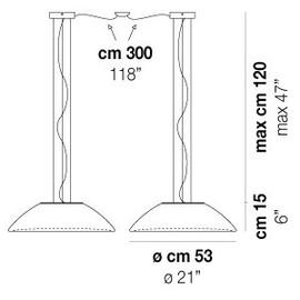 Infinita SP 53 D2 - Vistosi - lampa wisząca