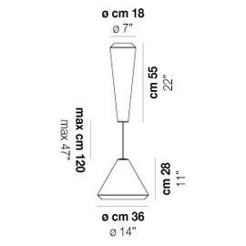 Withwhite SP 18 G - Vistosi - lampa wisząca