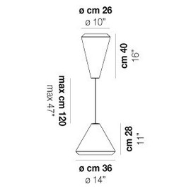 Withwhite SP 26 G - Vistosi - lampa wisząca