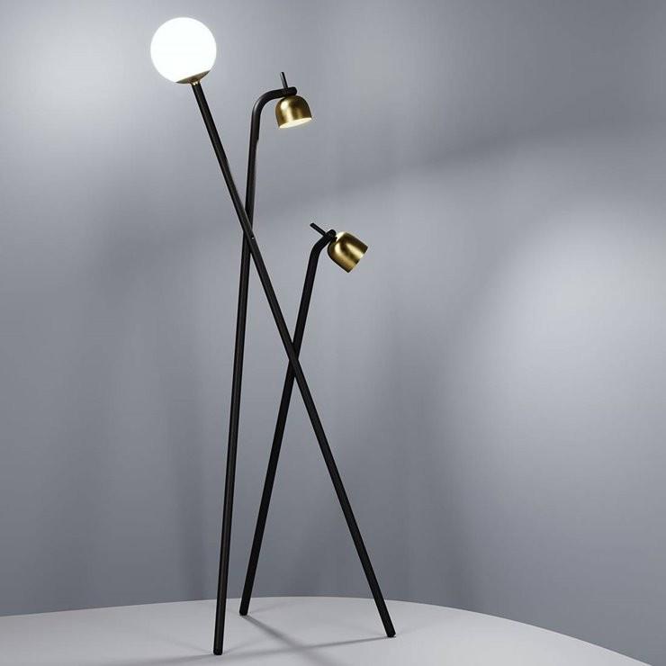 Tripod H173 czarny - Fontana Arte - lampa podłogowa