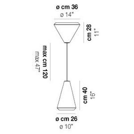 Withwhite SP 36 M - Vistosi - lampa wisząca