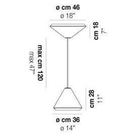 Withwhite SP 46 G - Vistosi - lampa wisząca